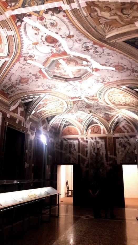 Soffitto affrescato del Castello Estense Ferrara