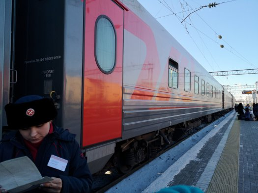 Controllo dei documenti prima di accedere al vagone - treni RZD, ferrovie russe