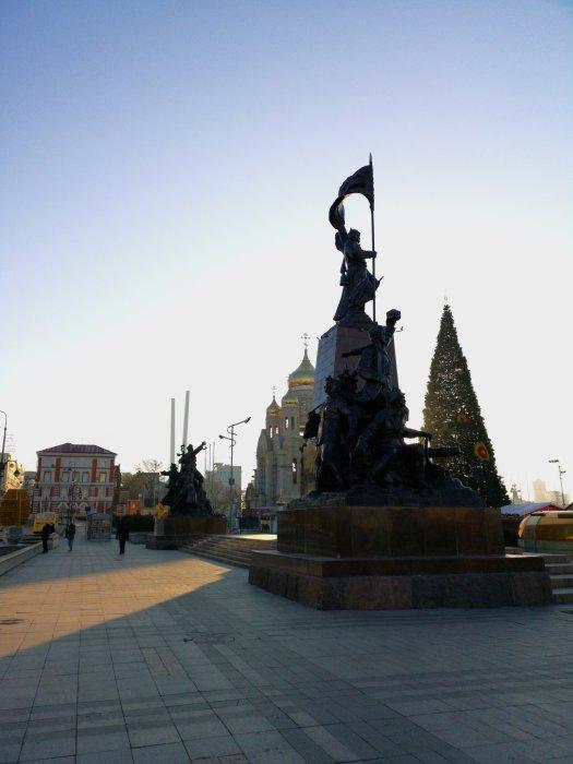 Piazza dei combattenti per il potere dei Soviet nel lontano est - Vladivostok